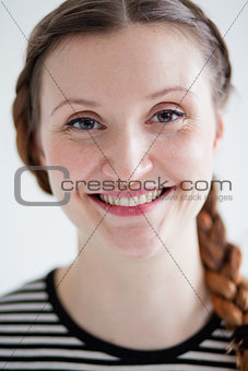 Smiling attractive woman