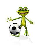 soccer player frog