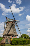 Beatrix mill in Winssen against a blue sky