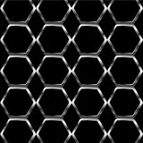 Silver honey cell background