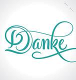 DANKE hand lettering (vector)