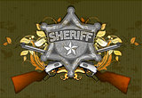 sheriff star with guns