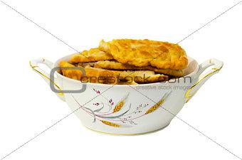 A big plate of chebureki