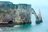 Natural cliff in Etretat, France.