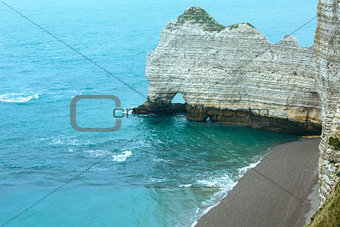 Elephant Cliff in Etretat, France.
