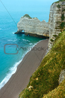Elephant Cliff in Etretat, France.