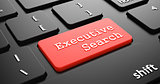 Executive Search on Red Keyboard Button.
