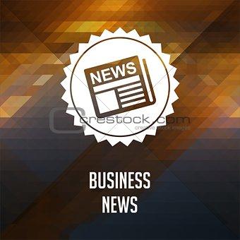 Business News. Retro label design.