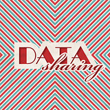 Data Sharing Concept on Striped Background.
