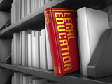 Legal Education - Title of Book. Innovation Concept.