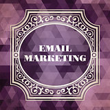 E-mail Marketing Concept. Purple Vintage design.
