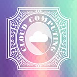 Cloud Computing. Pastels Vintage Design Concept.