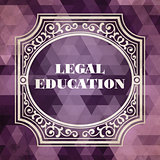 Legal Education Concept. Purple Vintage design.