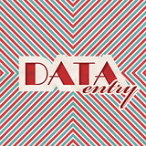 Data Entry Concept on Striped Background.