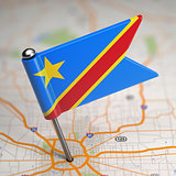 Democratic Republic of the Congo Small Flag.