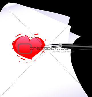 abstract heart of a writer
