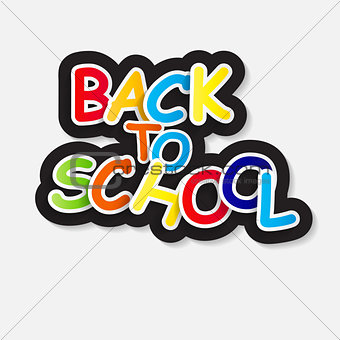 Back to School Label Concept Vector Illustration