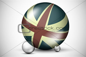 British flag on the ball field