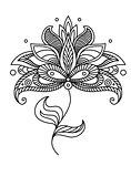 Paisley ornate floral design element