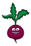 Cheerful happy cartoon beetroot vegetable