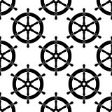 Vintage ships wheel seamless pattern