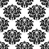 Bold damask style arabesque pattern
