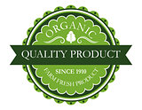 Organic label for farm fresh products