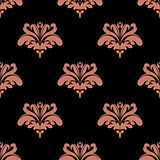 Seamless pattern with pink floral elements