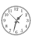 Dainty clock dial face