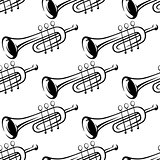Seamless pattern of trumpets