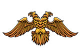Double headed golden Imperial eagle