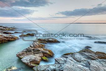 Rocky Sunset Seascape