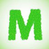 grass letter M