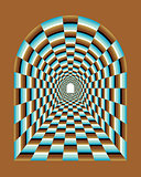 Abstract tunnel Illusion