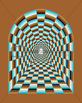 Abstract tunnel Illusion