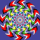 Optical illusion of rotation