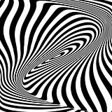 Design monochrome vortex illusion background