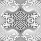 Design seamless monochrome whirl pattern