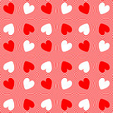 Design seamless twirl stripy heart pattern
