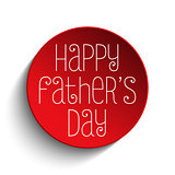 Happy Fathers Day Red Icon Button
