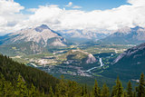 Aerial view of Banff