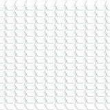 Abstract white hexagon background - vector illustration