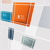 Abstract square background - vector illustration