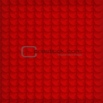 Abstract red circle background - vector illustration