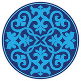 blue oriental ottoman design twenty-three