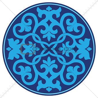 blue oriental ottoman design twenty-three
