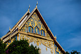 The big thai church under blue sky
