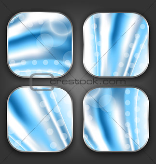 Abstract wavy backgrounds with for the app icons
