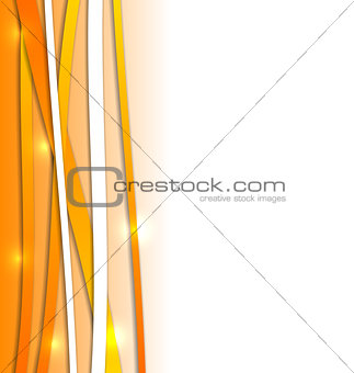 Abstract orange background with lines