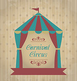Vintage carnival poster for your advertising